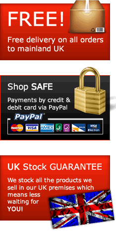 Free delivery on all UK orders - Secure payments via Paypal